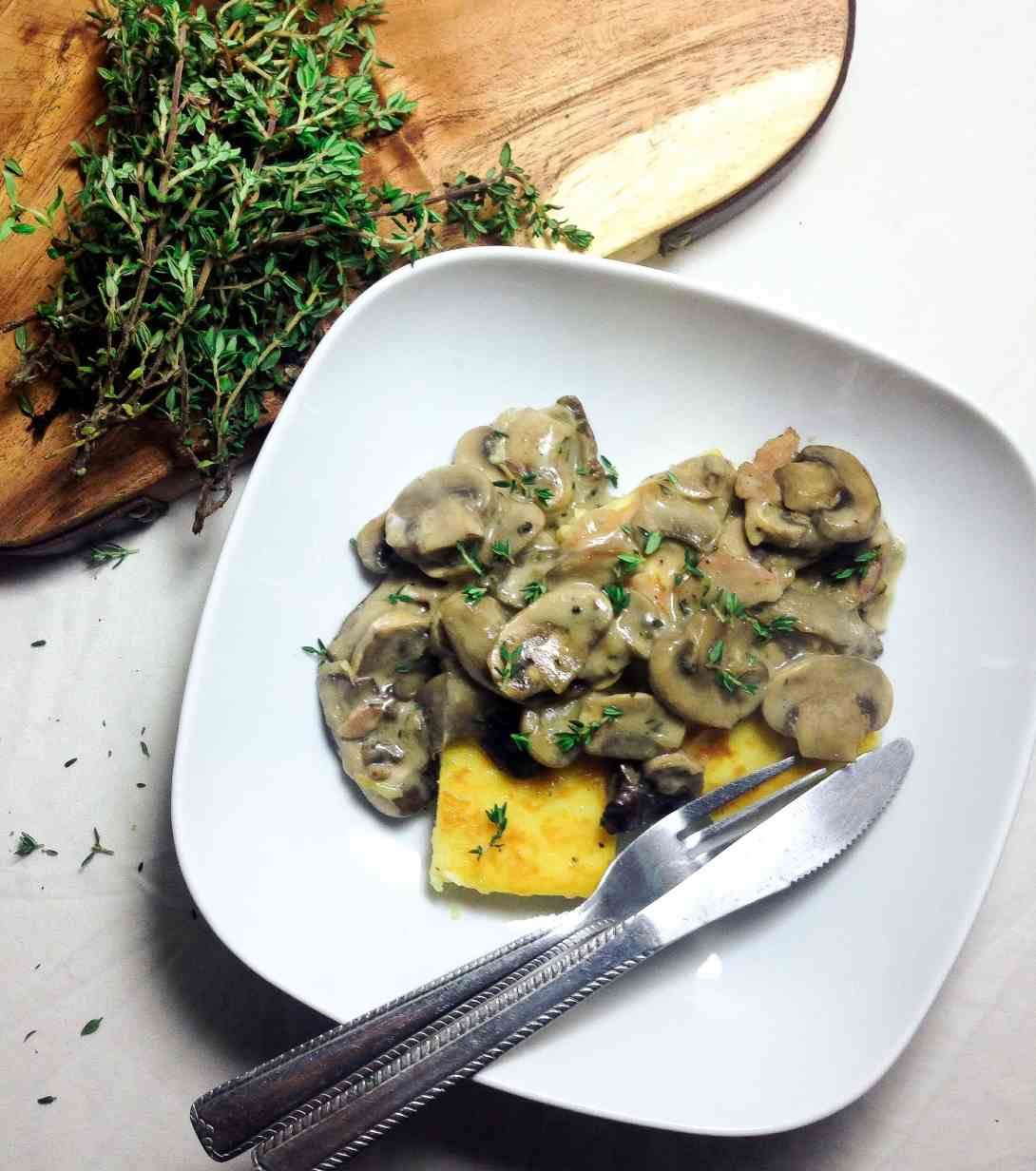 This wild mushroom ragu is a creamy mixture of three different types ...