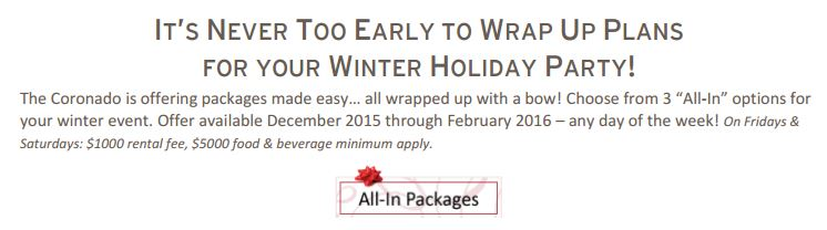 Winter All-In Packages Photo