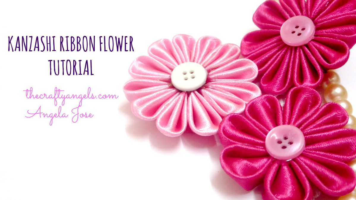 Kanzashi ribbon flower tutorial