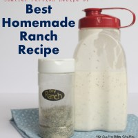 Smaller Portion Best Homemade Ranch Recipe