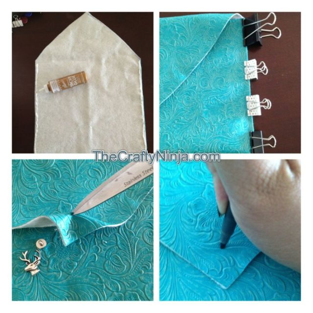 envelope clutch button stud