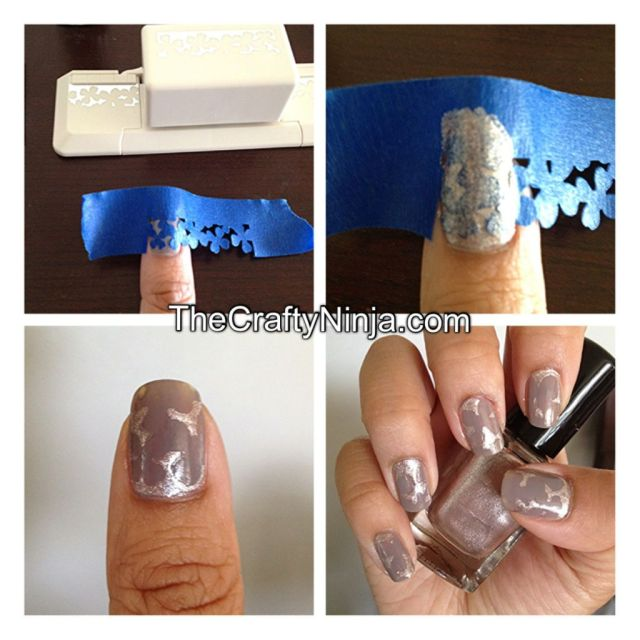 craft punch nail tutorial