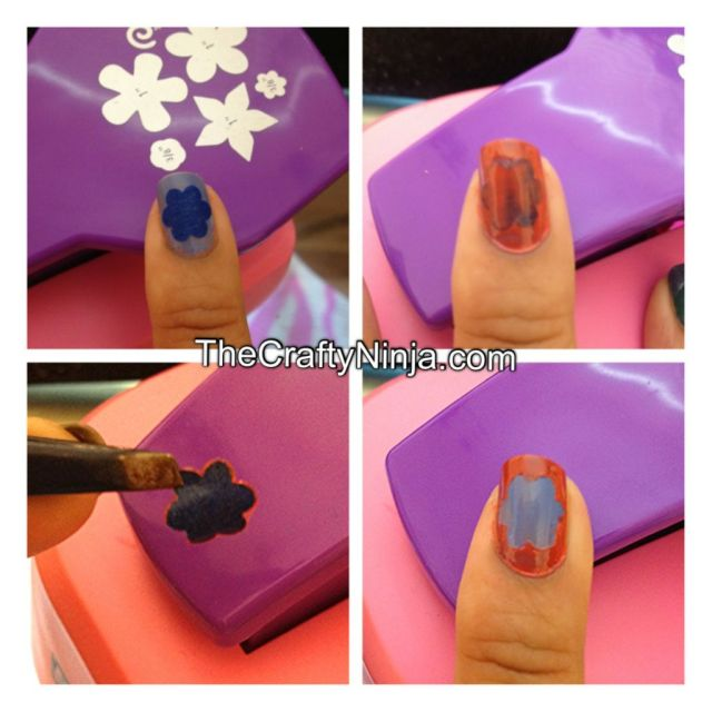 crafty punch nail art