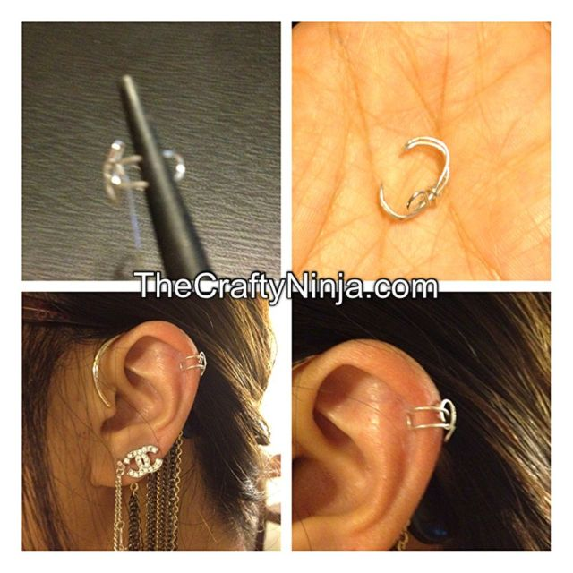 diy wire ear cuff