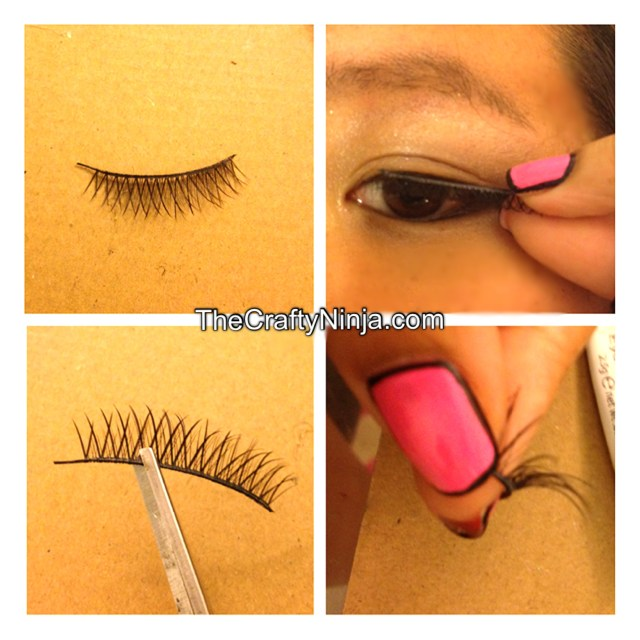 wear fake lashes