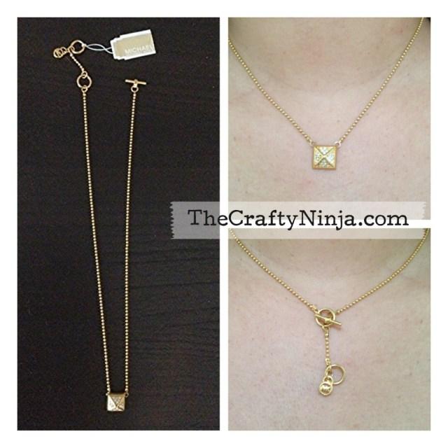 michael kors pyramid stud necklace