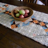Fall table runner tutorial