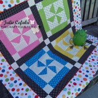 Dottie pinwheel block with one-seam flying geese!