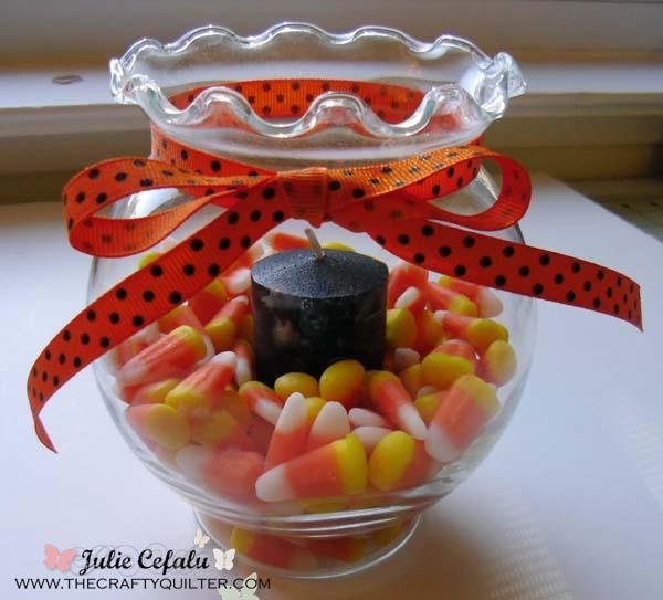 CANDY CORN CANDLE JAR