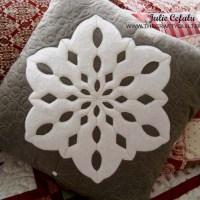 My own snowflake pillow