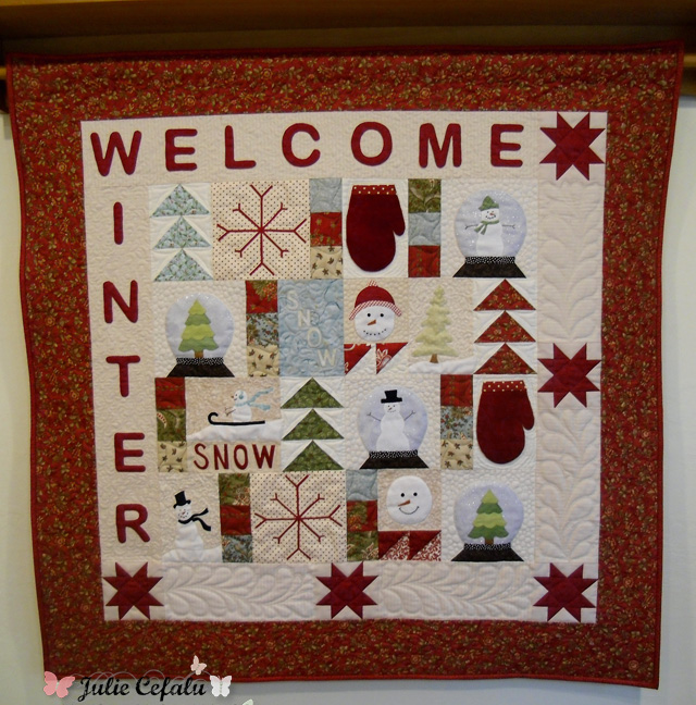 Welcome Winter Wall Hanging at The Crafty Quilter