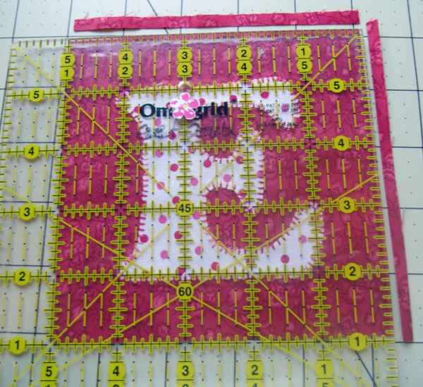 Love square trimmed