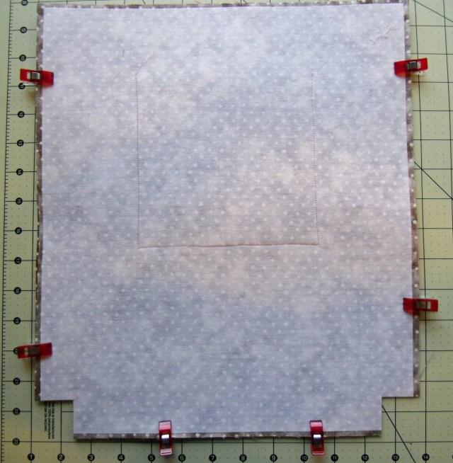 bag lining sewn together