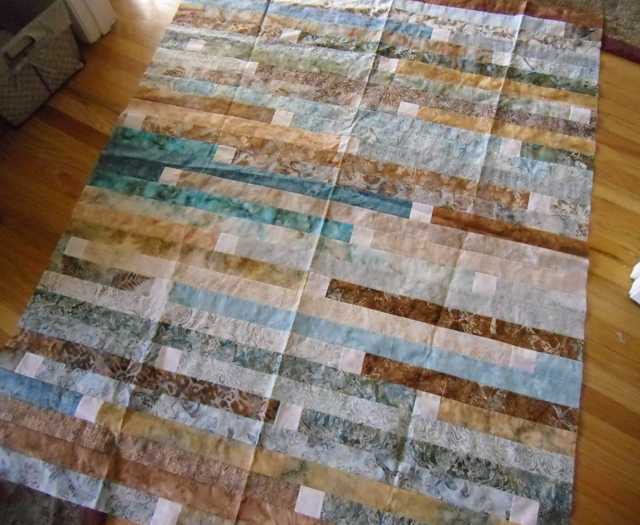 Jelly roll race quilt @ The Crafty Quilter