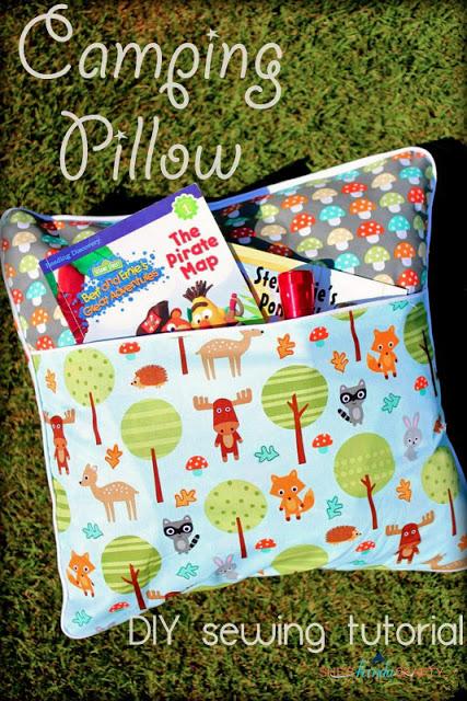 camping pillow tutorial