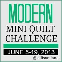 modern mini quilt 2013 button