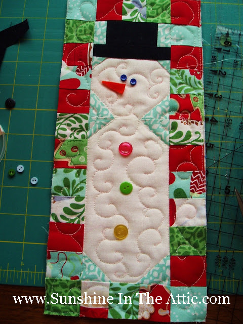 Snowman Quilt by Sunshine in the Attic