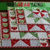 Christmas in August:  Pinwheel Star Table Runner, Placemats, and more!