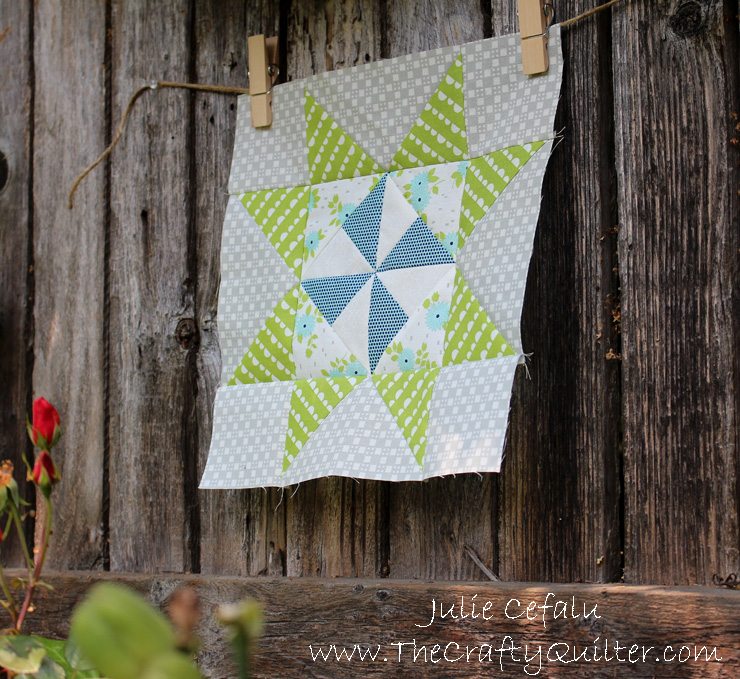 Pinwheel Star Quilt Block Tutorial @ The Crafty Quilter