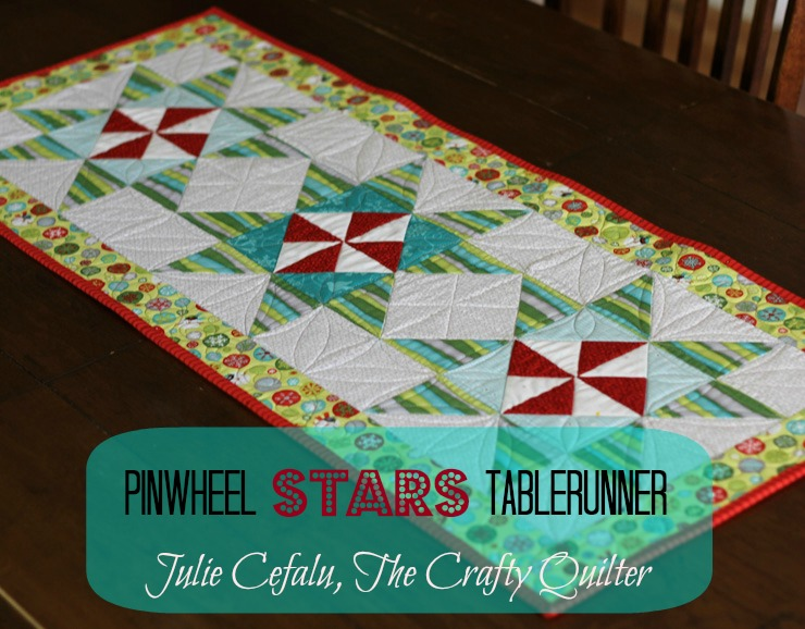 Pinwheel Stars Tablerunner Tutorial @ The Crafty Quilter