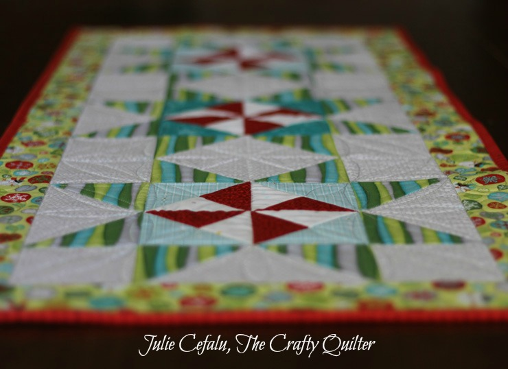 Christmas Table Runner Tutorial @ The Crafty Quilter