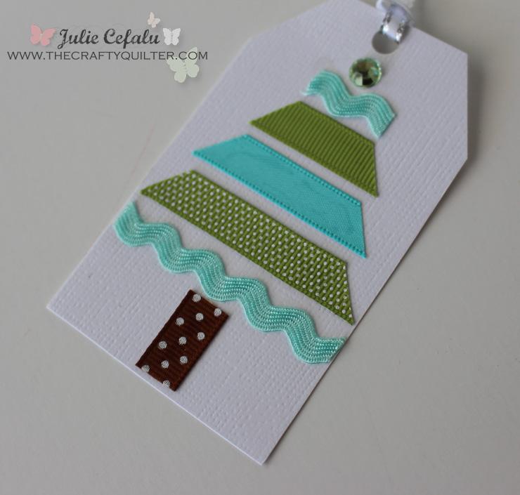 Ribbon Christmas Tree Gift Tag