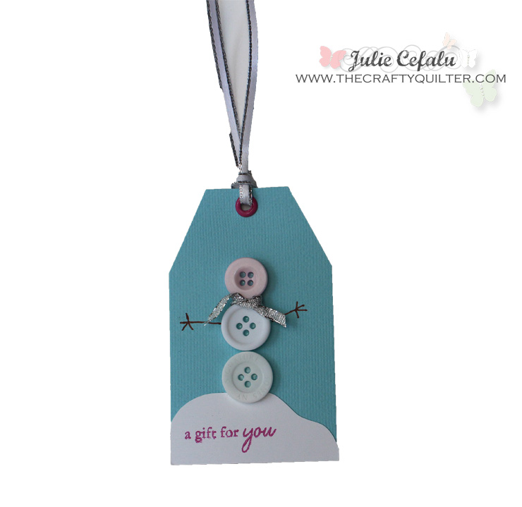 Snowman Gift Tag with Buttons