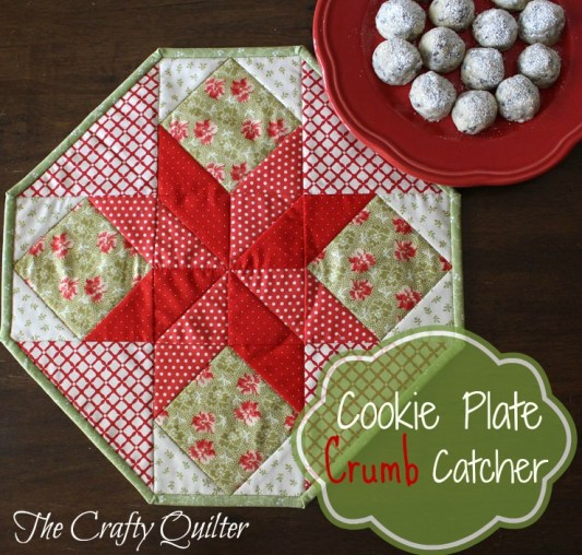 Cookie Plate Crumb Catcher Tutorial @ The Crafty Quilter