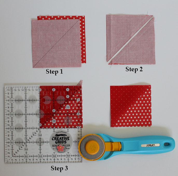 Half Square Triangle Steps