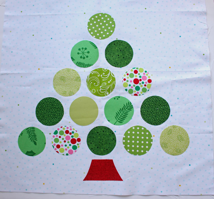 applique before stitching