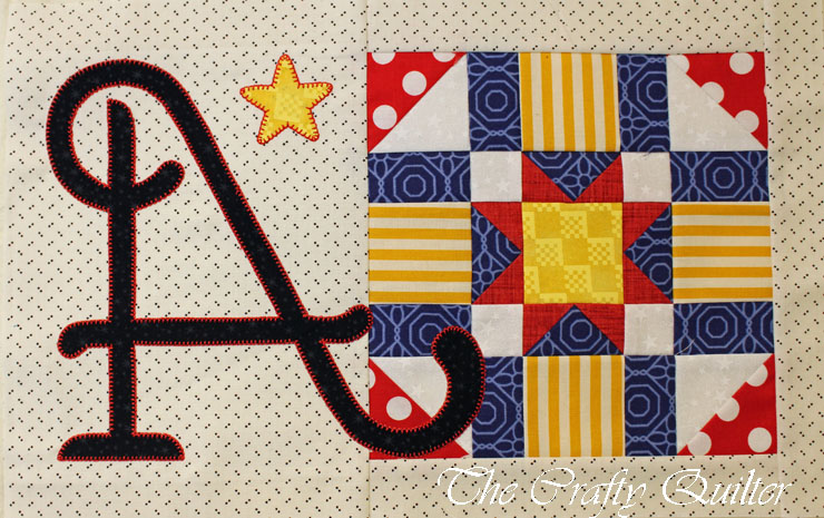 """""""A"""" Block, from A-Z for Ewe and Me, designed by Janet Stone, Made by Julie Cefalu"""