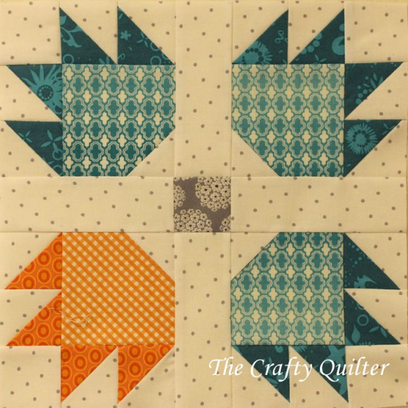 Polar Bear Block made by Julie Cefalu @ The Crafty Quilter