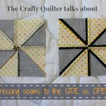 Pressing Seams Open vs. To The Side @ The Crafty Quilter
