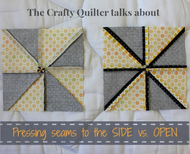 Pressing Seams to the Side vs. Open from The Crafty Quilter