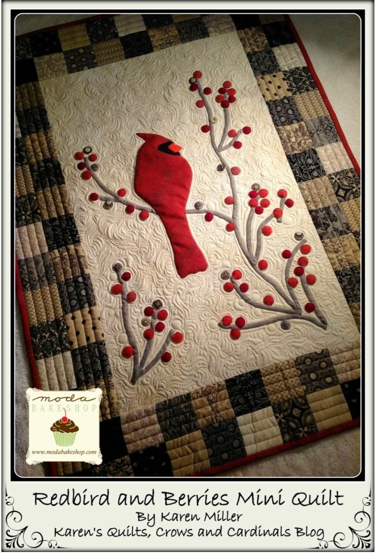 Redbirds and Berries Mini Quilt
