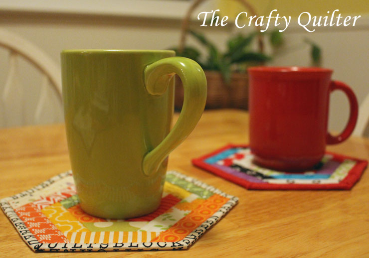 Hexagon Mug Rugs made by Julie Cefalu @ The Crafty Quilter
