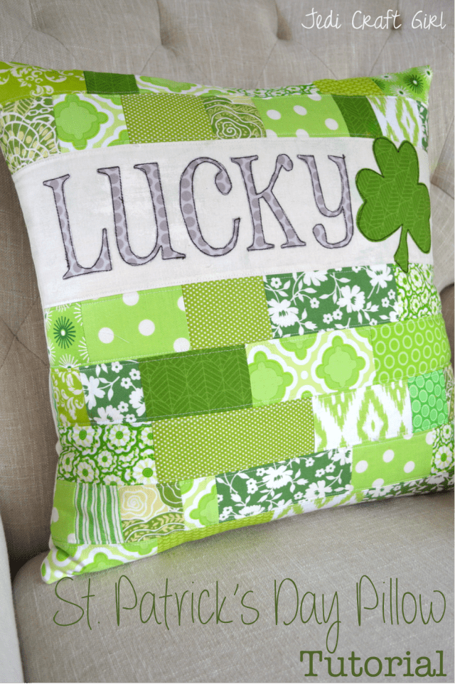 St Patrick's Day Pillow Tutorial