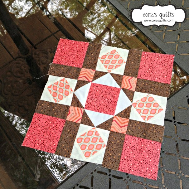 Block #6 of Spring Sampler QAL @ Cora's Quilts