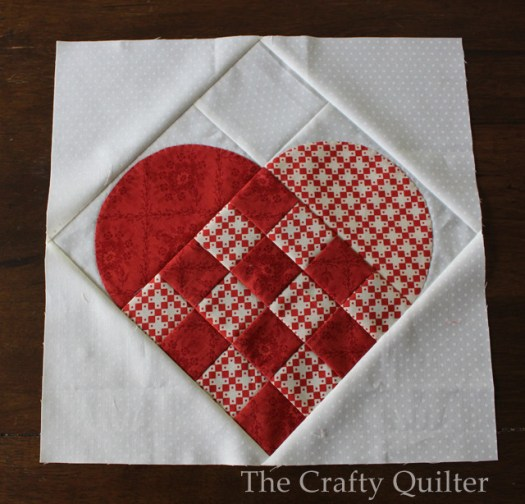 Nordic Heart quilt block @ The Crafty Quilter