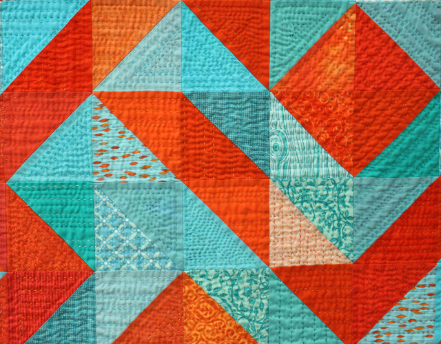 "Quilting Detail of ""Coral Reef"" by Marla Varner"