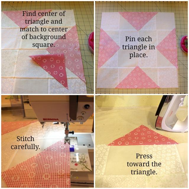 corner triangle collage