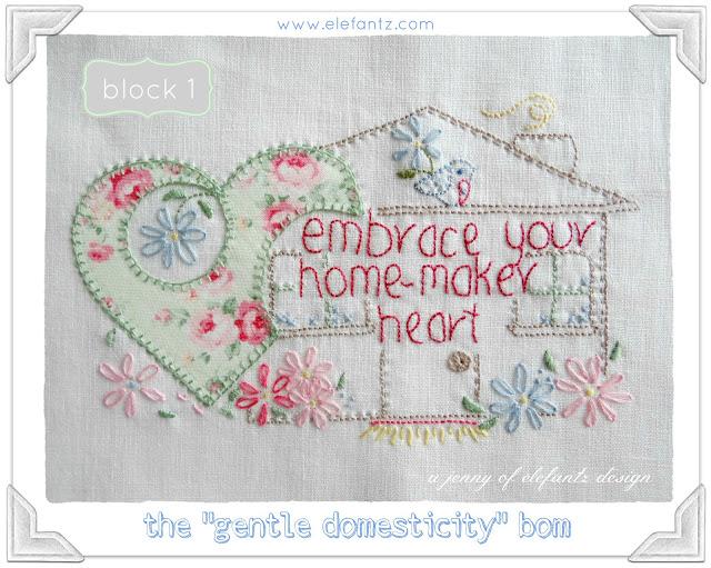 ELEFANTZ gentle domesticity BOM block 1 jan 2015