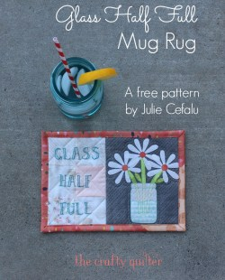 GLASS HALF FULL MUG RUG