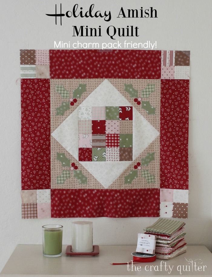 Amish Mini Quilt - free pattern - The Crafty Quilter
