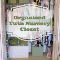 organized twin nursery closet