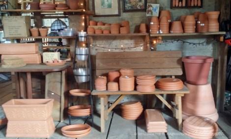 All sizes of terra cotta pots