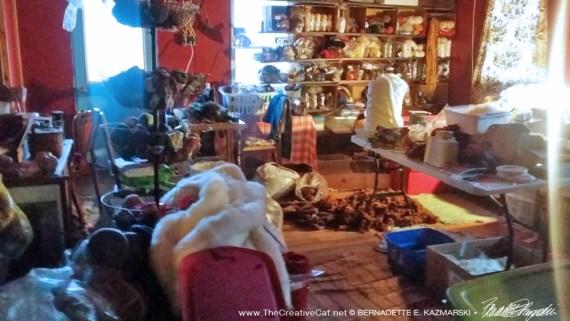 The yarn room.