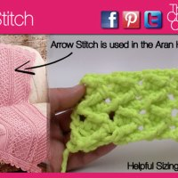 Arrow Crochet Stitch