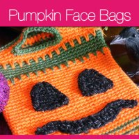 Pumpkin Face Trick or Treat Bags + Video Tutorial