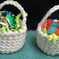 Mini Sweet Treat Baskets Crochet Pattern